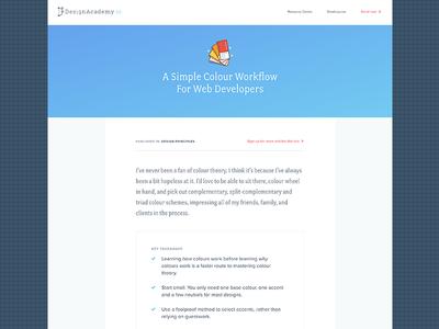 Design Academy Blog - A simple colour workflow for developers article colour blog design academy