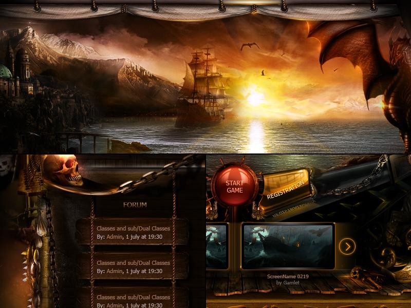 Pirates Caribbean mmorpg game skull fantasy sea ship caribbean pirates