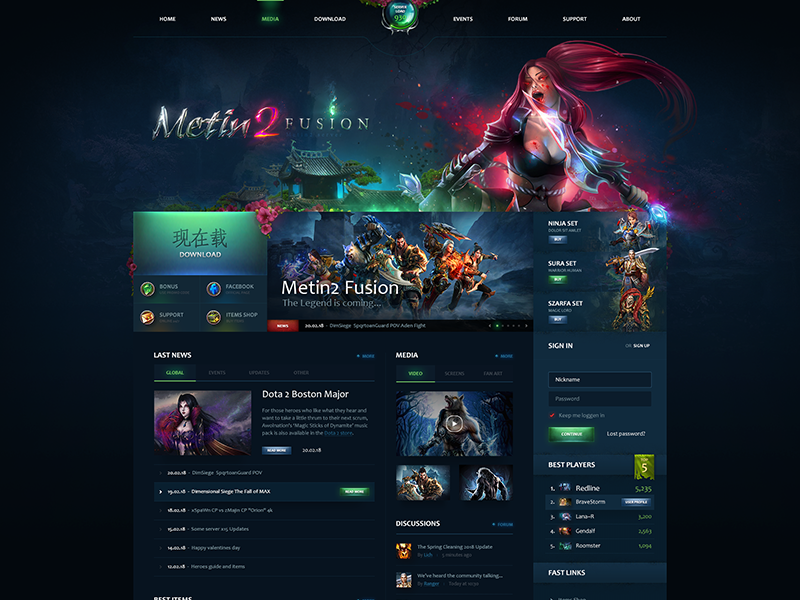 Metin2 Fusion by Templstock on Dribbble
