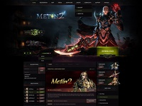 Metin2 Dark Website Template