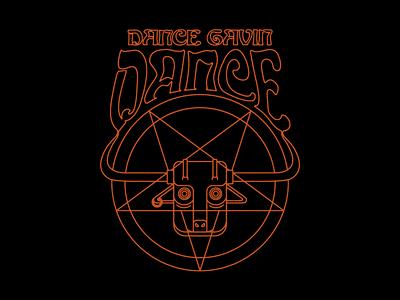 Dance Gavin Dance - Pentagram pentagram demon typography type psychedelic devil illustration