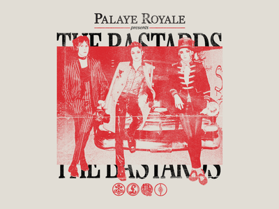 Palaye Royale - The Bastards punk branding typography type photo texture