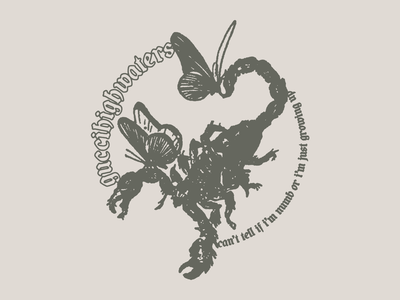 Guccihighwaters - Scorpion blackletter illustration typography type butterfly scorpion