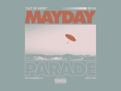 Mayday Parade - Float apparel waves umbrella texture layout typography type