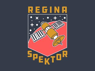 Regina Spektor - Laika russia typography type badge illustration piano satellite