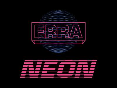 Erra - Neon 80s identity logo branding typography type neon