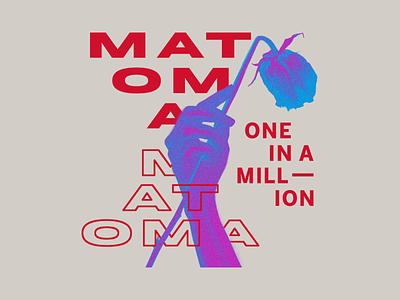 Matoma - Neon Rose typography type neon 3d hand rose