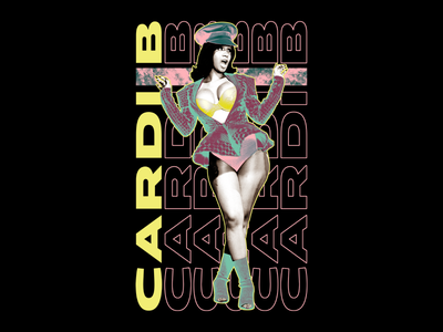 Cardi B - Bardi Gang fashion apparel neon photomanipulation typography type