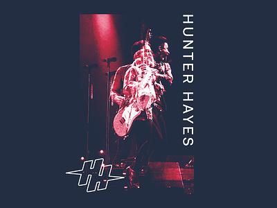 Hunter Hayes - Multiplicity apparel identity logo branding typography type photomanipulation photography