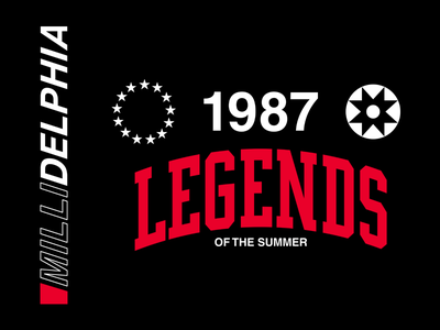 Meek Mill - Legends apparel streetwear logo identity branding typography type