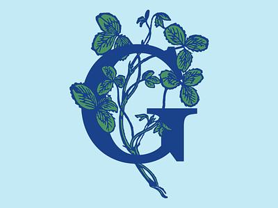 Grayscale - G Vine apparel monogram vines illustration branding logo identity