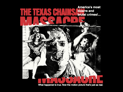 The Texas Chainsaw Massacre - Collage poster movie halloween typography type horror collage