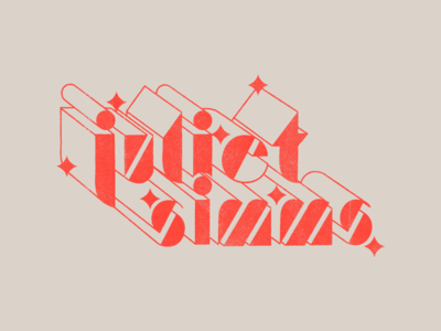 Juliet Simms - Starshine retro stars 3d illustration identity branding logo art deco