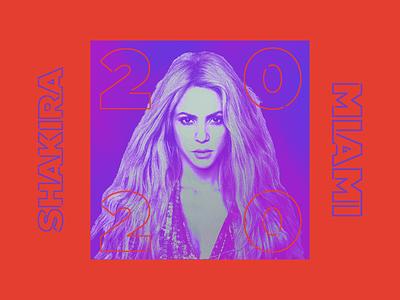 Shakira - Super Bowl texture neon branding identity logo typography type