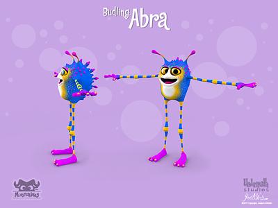 Monsterling: Budling - Abra 3d animation cinema 4d zbrush character design characters 3d illustration illustration kids stories childrens books monsters monsterlings