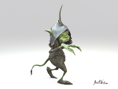 Pixie character c4d zbrush mythology medieval faries middle earth fantasy pixie