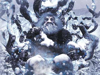 The Lost King of the Frost Giants - Cropped digital illustration concept art illsutartion waterfalls medieval giant