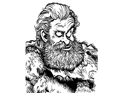 Tormund Dragonsbane cartoon character caricature illustration games of thrones got tormund