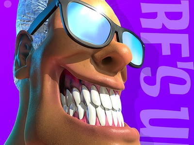 Surf Heads - Surf's Up! satire caricature character cinema 4d summer zbrush surfer surfing surf