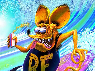 Rat Fink Surfs summer surf surfing ed big daddy roth finks rat fink