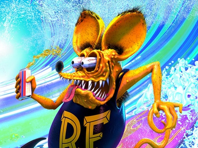 Rat Fink Surfs summer surf surfing ed big daddy roth finks rat fink