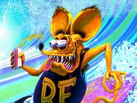 Rat Fink Surfs