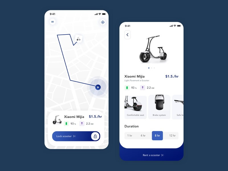 Rent a scooter app