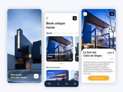 Rent a house App Design