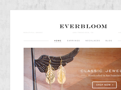 Everbloom Store Launch ecommerce fashion gray high end