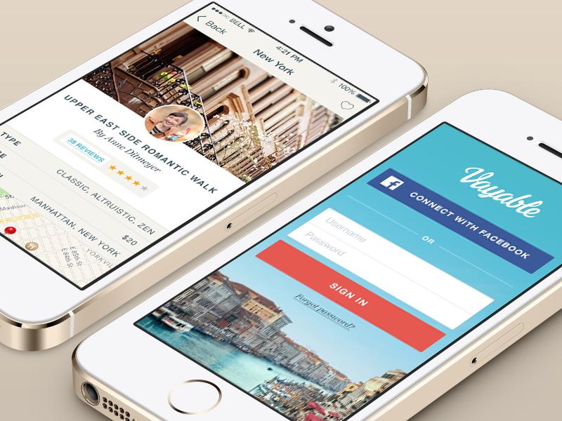 Vayable Mobile App mobile login