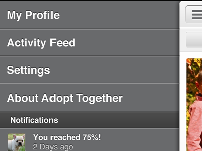 Adopttogether activityfeed leftnav