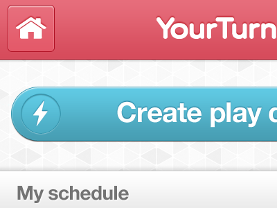 YourTurn Button blue button pink mobile mobile app ui