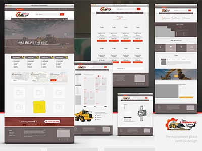 The Equipment Place   UX UI Design heavy vehicle ux ui equipment web design handyman equipment web equipment