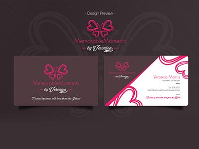Logo   Business Card Design memorable lovely hearts butterfly design logo design business card