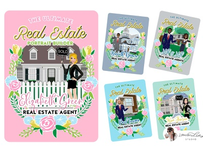 Real Estate Portrait Creator sales woman sales man clip art sales illustration real estate illustration house sale real estate character design character avatar generator avatar