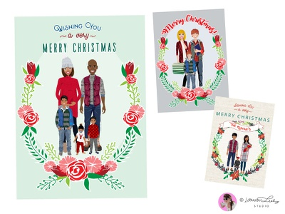 Christmas Family Portrait Builder christmas illustration postcard family portrait clip art character design character illustration winter christmas avatar generator avatar