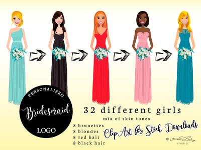 Dribble Bridesmaid Page