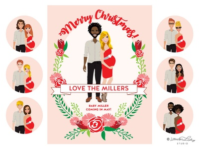Christmas Card Illustration Portrait Builder | Holidays