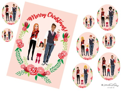 Christmas Card Family Portrait Builder | Holidays