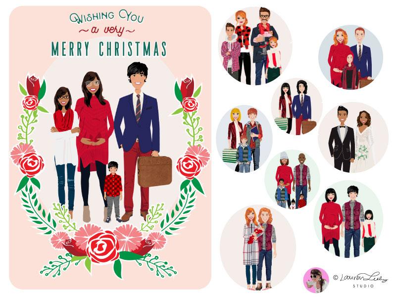 Christmas Family Portrait Creator by Lauren Lesley Poole on