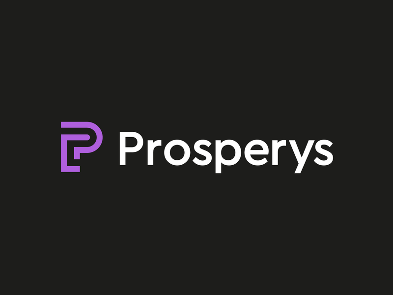Prosperys monoline digital marketing logodesign connection engagement modern data identity mark symbol branding logo