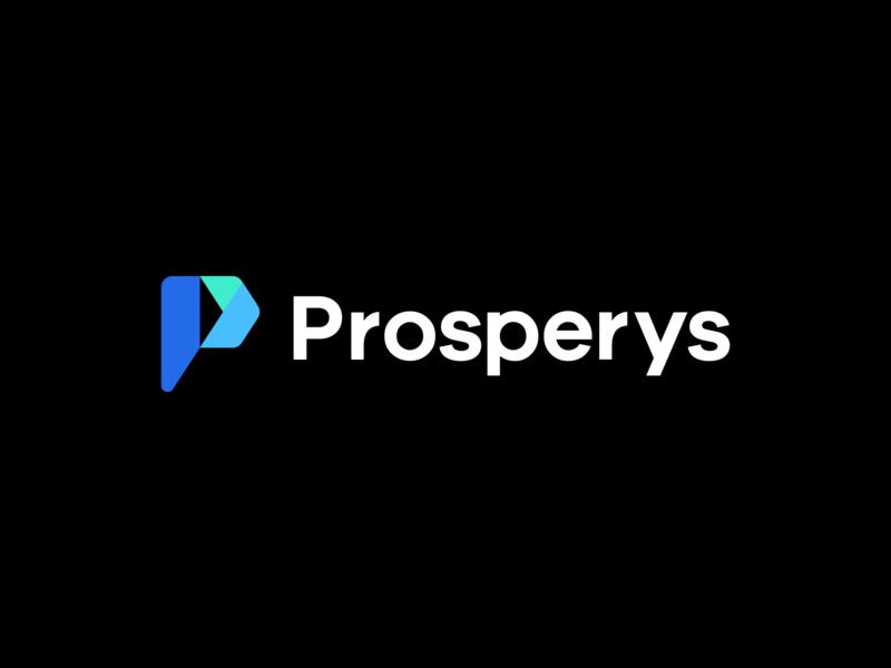 prosperys forwarding arrow forward marketing technology icon data modern geometric lettermark identity mark symbol p indentity branding logo