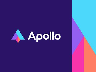 apollo consult consultant icon lettermark geometric abstract mark symbol logo identity branding spaceship space apollo consulting rocket
