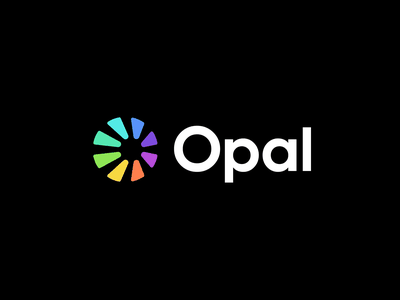 opal o logo technology modern data lettermark perspective o opal gem sun shine abstract identity mark symbol branding logo