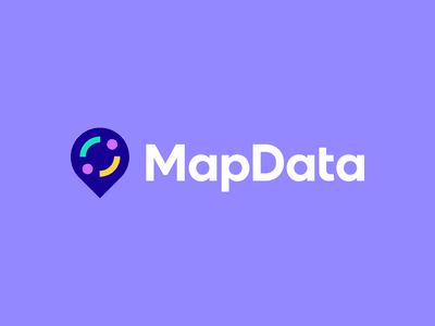 MapData modern flat logo data technology map export google maps pointer pin location geometric abstract identity mark symbol branding logo