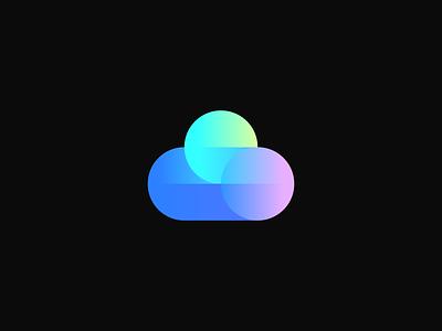 cloud fly fast dynamics dynamic speed sky hosting cloud technology data modern geometric abstract identity mark symbol branding logo
