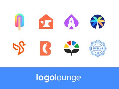 logolounge modern logo negativespace flat logo identity mark symbol branding logo logolounge 12