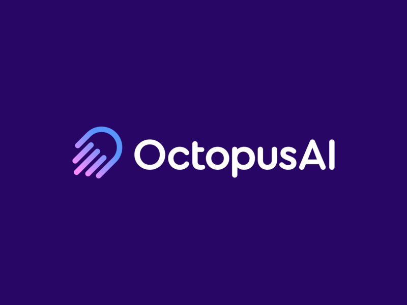 OctopusAI branding and identity branding logo well being shape healthiness doctor health touch palm artificial intelligence ai octopus hand