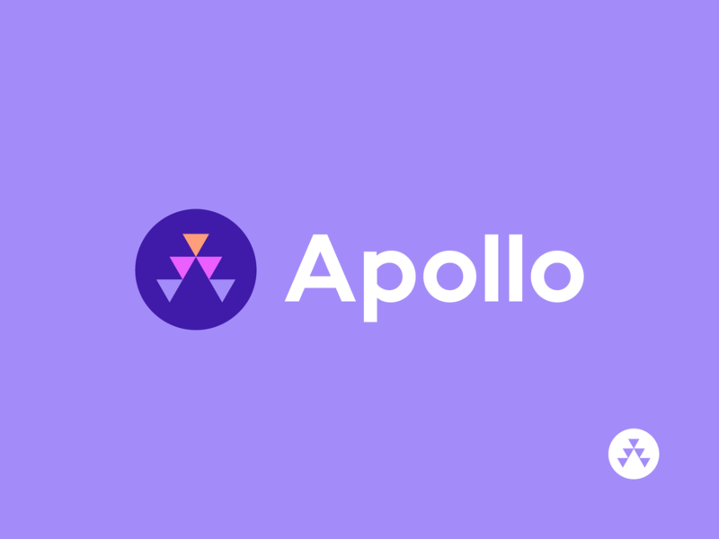 apollo modern startup geometric apollo abstract consulting a symbol branding logo