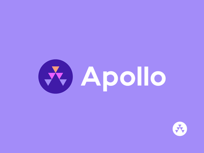 apollo unused logo modern startup geometric apollo abstract consulting a symbol branding logo